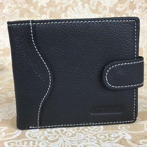 Jinnaolai Black Leather Wallet